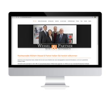 Wessel & Partner - Rechtsanwälte & Notar Mülheim an der Ruhr - Webdesign Iwona Downar